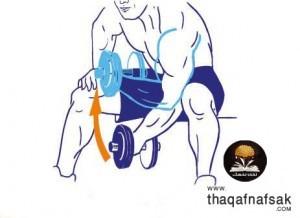 تمارين لتقوية وبناء عضلات الذراعين 5