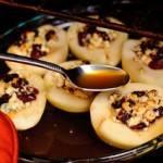 عشاء خفيف الكمثري بالجبن الريكفورد في الفرن