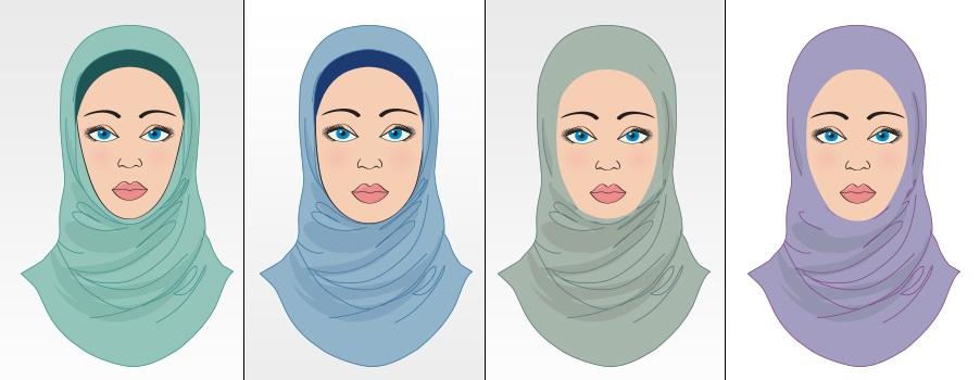 4ae4afd322cad تعرفي علي لفة الحجاب المناسبة لشكل الوجه بالصور