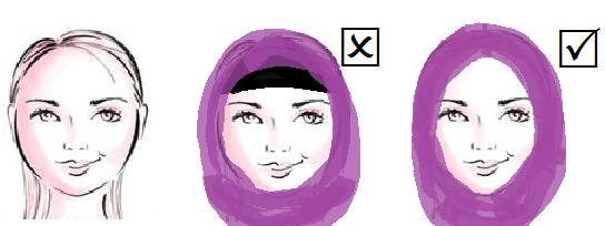 b39c1dc5eaffe تعرفي علي لفة الحجاب المناسبة لشكل الوجه بالصور2