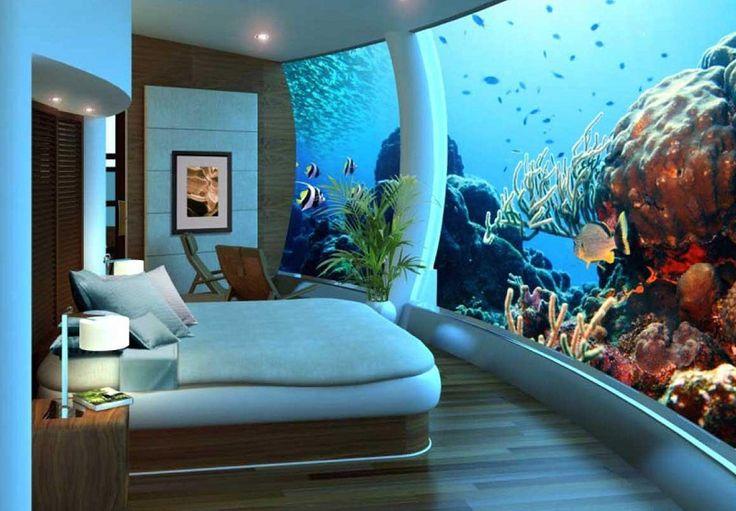 غرف فنادق مذهلة تحت الماء 8