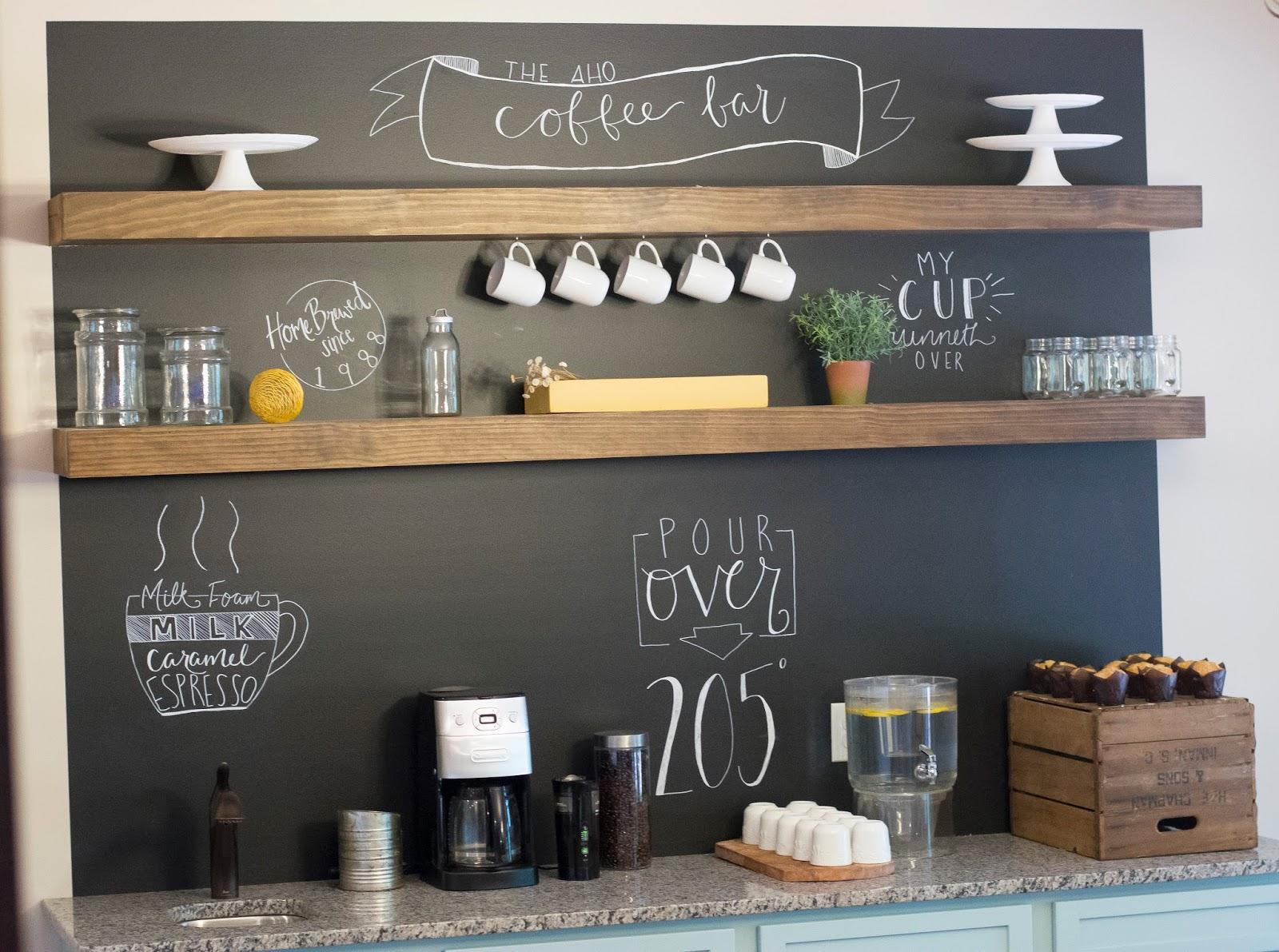 تصاميم ركن القهوة في المنزل بالصور