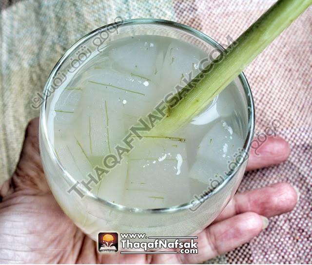 صورة مشروب عشبة الليمون مع الصبار بالصور لترطيب الجسم في الحر