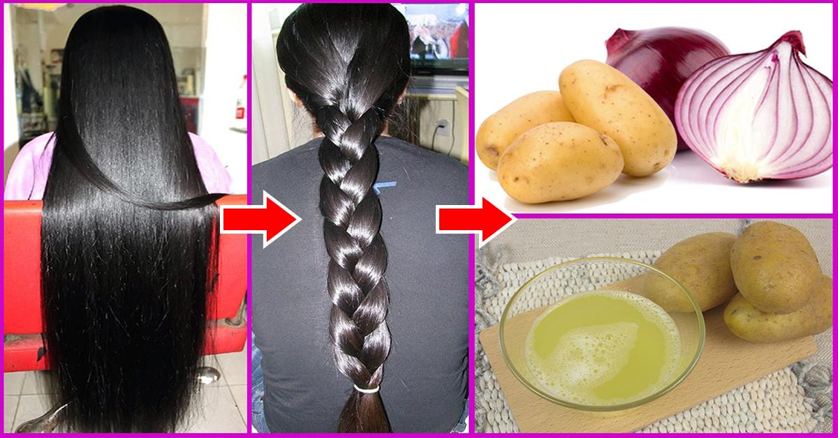 عصير البطاطس لتطويل الشعر
