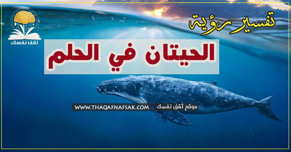 تفسير الحوت في الحلم