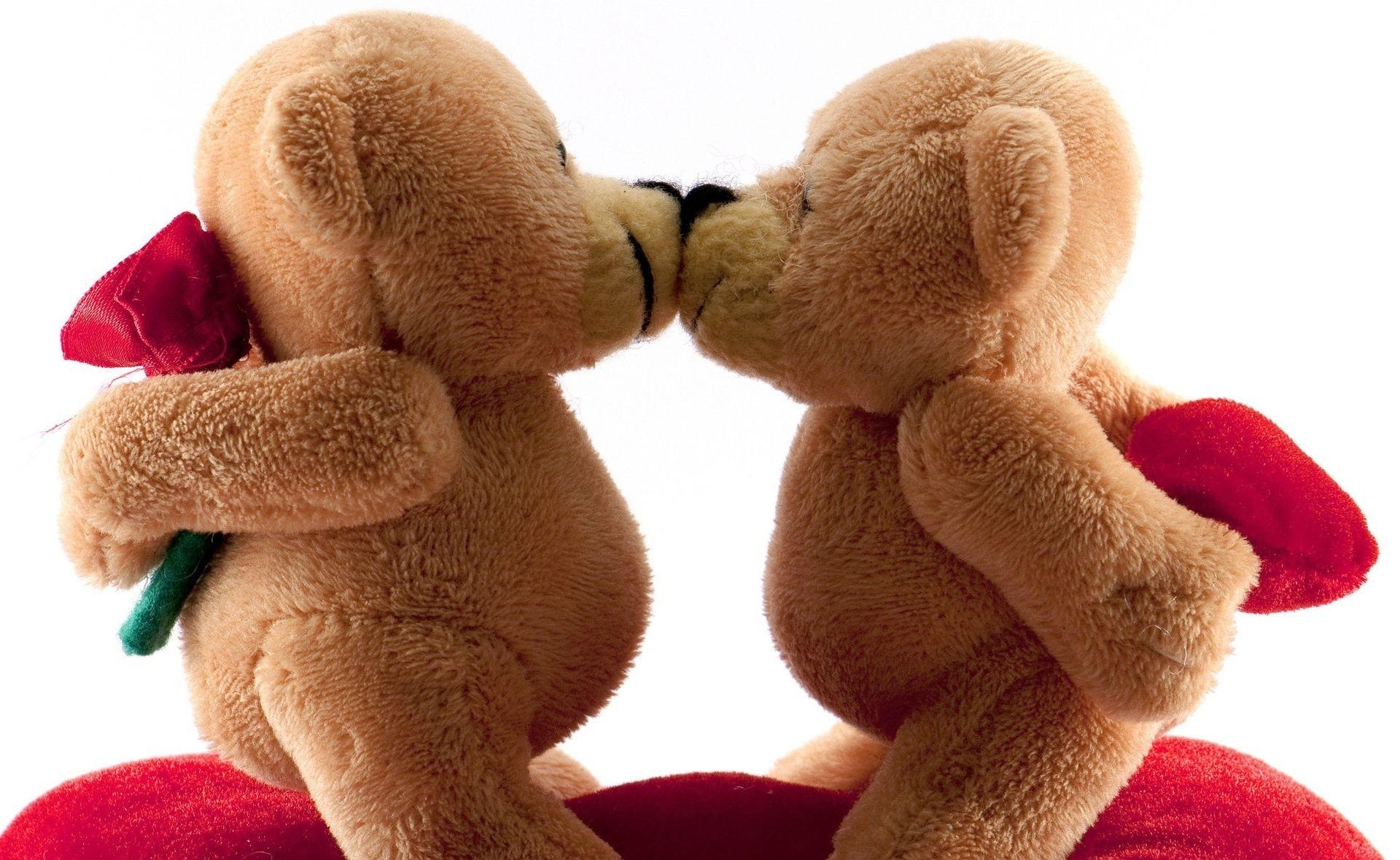 valentines day bears kiss romance wallpapers